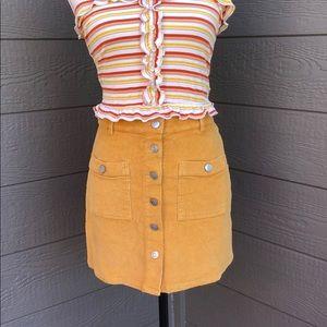 Peach Love California Corduroy Mini Skirt